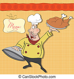 funny cartoon chef