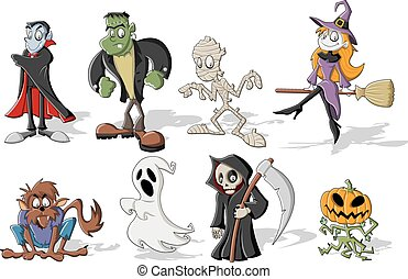 halloween monster characters - Funny cartoon classic...