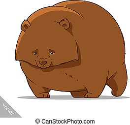 funny cartoon cute bear illustration - funny cartoon cute...
