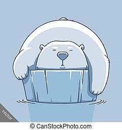 funny cartoon cute bear illustration