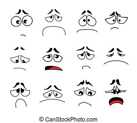 Funny cartoon eyes vector set