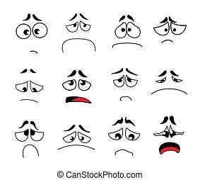 Funny cartoon eyes vector set