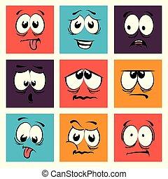 Funny cartoon face