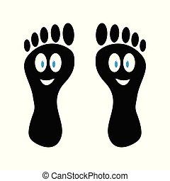 funny cartoon foot prints of feet