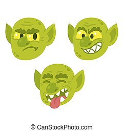 Funny cartoon goblin faces - Funny cartoon goblin or troll ...