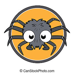 Funny Cartoon Halloween Spider
