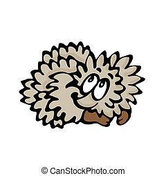 Funny cartoon hedgehog