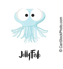 Funny Cartoon Jellyfish