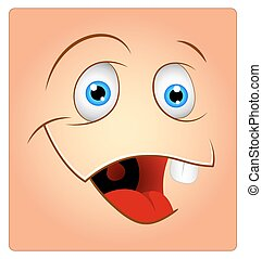 Funny Cartoon Laughing Smiley Face