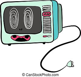Funny cartoon microvave