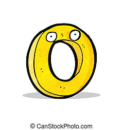 funny cartoon number zero