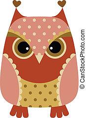 Funny cartoon owl