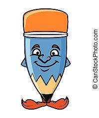 Funny Cartoon Pencil Face