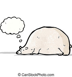 funny cartoon polar bear