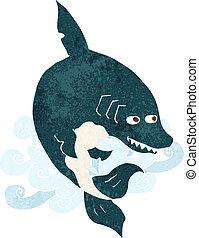 funny cartoon shark