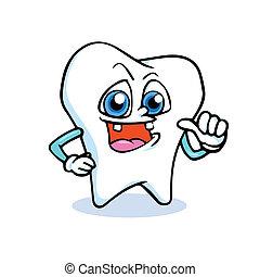 funny cartoon tooth