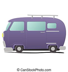 Funny cartoon van