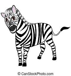 Funny Cartoon Zebra