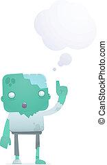 funny cartoon zombie