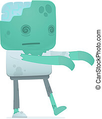 funny cartoon zombie in various poses for use in advertising, presentations, brochures, blogs, documents and forms, etc.