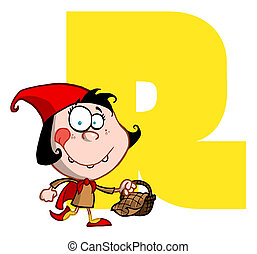 Funny Cartoons Alphabet-R