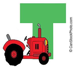 Funny Cartoons Alphabet-T