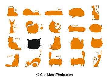Funny cats, Collection of cats character for your design