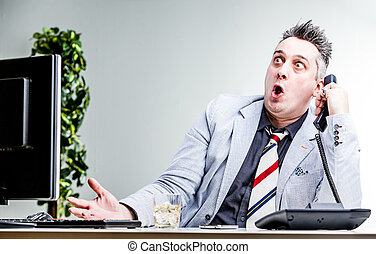 funny character of shocked businessman