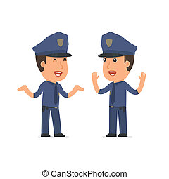 Funny Character Officer tells interesting story to his friend