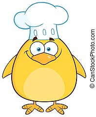 Funny Chef Yellow Chick