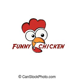 funny chicken illustration