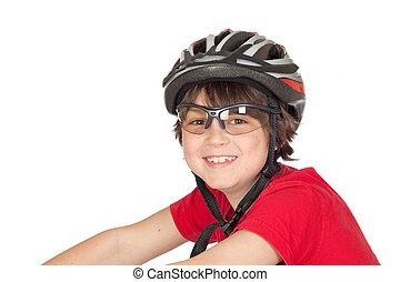 Funny child bike helmet