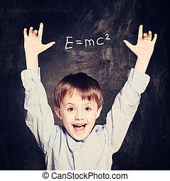 Funny Child School Boy