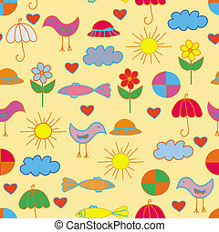 Funny child seamless bright pattern