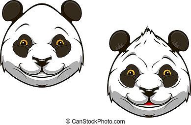 Funny chinese panda bear mascot - Funny chinese panda bear...