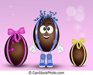 funny chocolate eggs cartoon