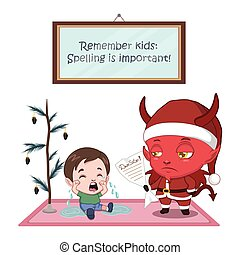 Funny Christmas card on why spelling is important
