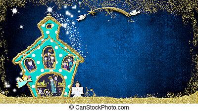 Funny Christmas Nativity Scene greeting card