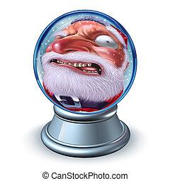 Funny Christmas Santa Snow Globe