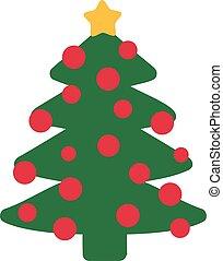 Funny christmas tree with balls