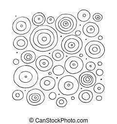 Funny circles abstract, sketch for your design