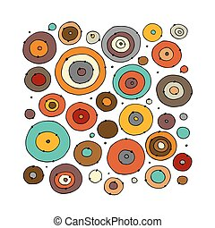 Funny circles colorful, sketch for your design