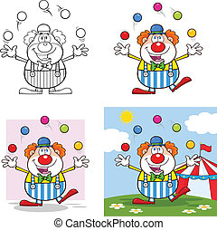 Funny Clown 4. Collection Set