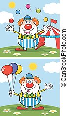 Funny Clown Character 2. Collection