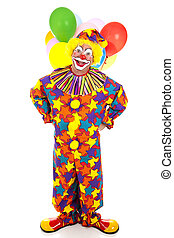 Funny Clown Full Body - Funny birthday clown with balloons...