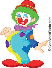 funny clown illustration