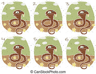 Funny Cobra Visual Game for children. Illustration is in ...