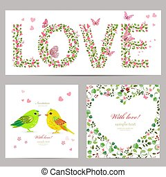 funny collection of romantic template cards for your design