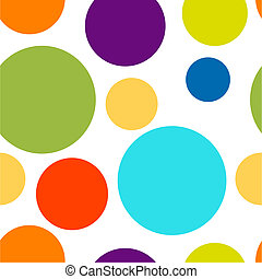 Funny colorful dots seamless pattern for your design