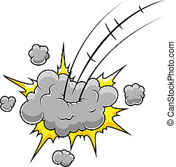 Funny Comic Blast Vector